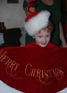 Caeden and Tree Skirt